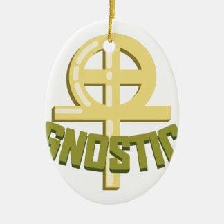 Gnostic Ovales Keramik Ornament