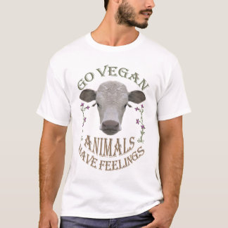 GO VEGAN - ANIMALS HAVE FEELINGS - 01m T-Shirt