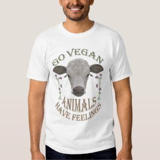 GO VEGAN - ANIMALS HAVE FEELINGS - 01m Tshirts
