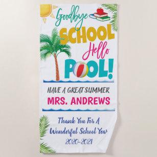 Gobye School Hallo Pool Teacher Beach Handtuch