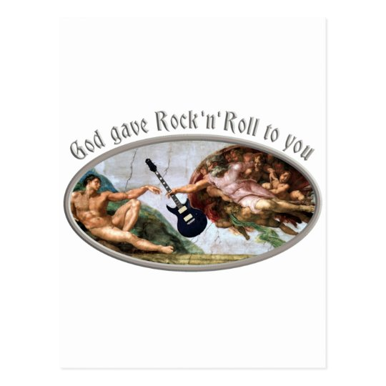 God gave Rock and Roll to you Postkarte