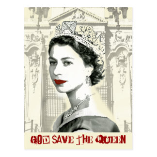 God Save the Queen Postkarte
