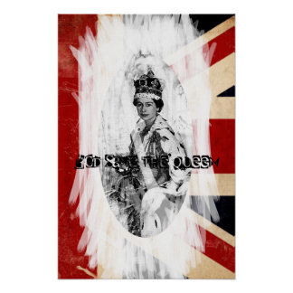 God Save the Queen Punk/Schmutz Poster