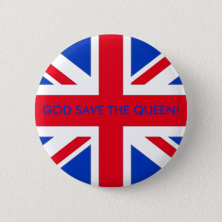 GOD SAVE THE QUEEN! RUNDER BUTTON 5,7 CM