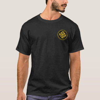 Godfrey De Bouillon Black u. GoldSiegel-Shirt T-Shirt