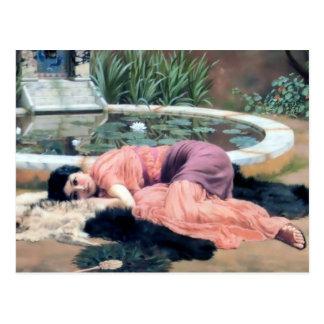 Godward Frau durch lilly des Teichdolce far niente Postkarte