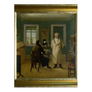 Goethe, das zu seinem Sekretär John, 1834 Postkarte