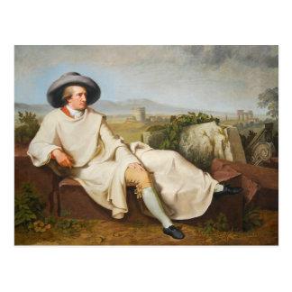 Goethe in der römischen Campagna durch Tischbein Postkarte