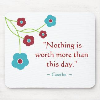 Goethe Zitat inspirierend Mousepad
