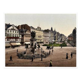 Goethes Platz und Goethe-Gutenburg Monument, Fran Postkarte
