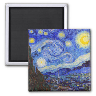 "Gogh , ""Starry Night"" Quadratischer Magnet"