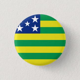 Goiás, brasilianischer Staatsflaggenknopf Runder Button 3,2 Cm