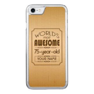 Gold75. Geburtstags-Feier-Welt gut fabelhaft Carved iPhone 8/7 Hülle