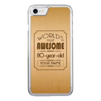 Gold80. Geburtstags-Feier-Welt gut fabelhaft Carved iPhone 8/7 Hülle