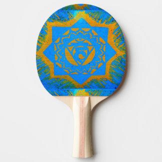 Gold auf blauem tantric Symbol Tischtennis Schläger