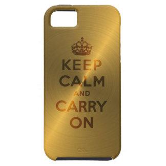 Gold behalten Ruhe und machen weiter iPhone 5 Hüllen