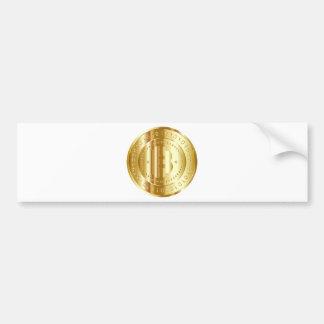 Gold Bitcoin Autoaufkleber