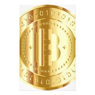 Gold Bitcoin Briefpapier