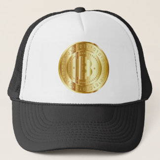 Gold Bitcoin Truckerkappe