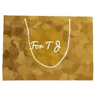 Gold Bokeh 4300 Große Geschenktüte