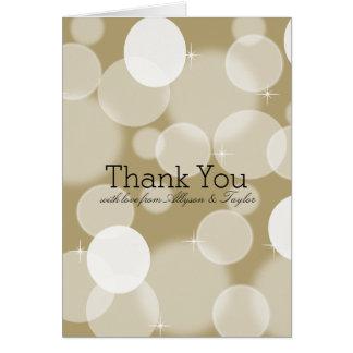 Gold Bokeh danken Ihnen Karte