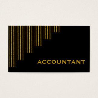 Gold, Buchhalter der vertikalen Streifen des Visitenkarte