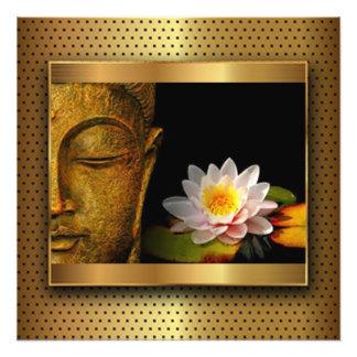 Gold Buddha mit Lotos-Blume Fotodruck