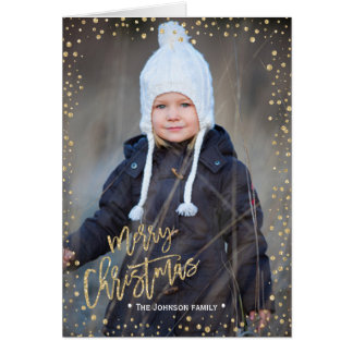 Gold Confettie | der frohen Weihnacht-| 2 Karte