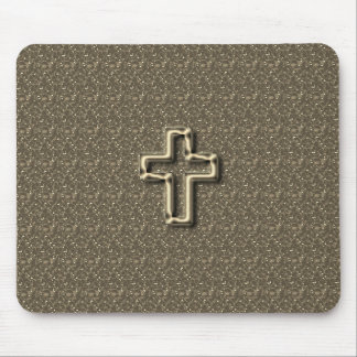 Gold-CROSS-Christian-Faith_Churches_Taupe Mauspads