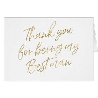 """Gold """"danken Ihnen für mein Sein Trauzeuge """" Karte"""
