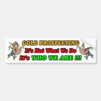 Gold, das Autoaufkleber prospektiert