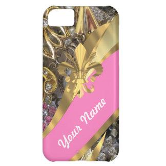 Gold, das Fleur de Lys bling ist iPhone 5C Hülle