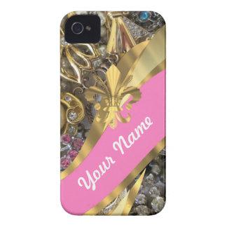 Gold, das Fleur de Lys bling ist iPhone 4 Hülle