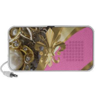 Gold, das Fleur de Lys bling ist iPhone Lautsprecher