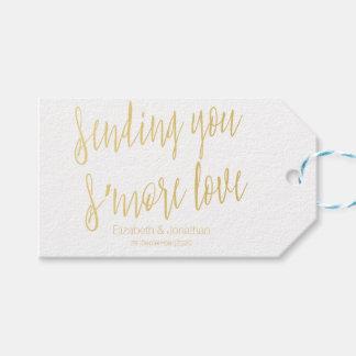 """Gold """", das Ihnen s'more Liebe"""" Gastgeschenk Geschenkanhänger"""