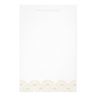 Gold - Deko Seigeiha personalisiertes Briefpapier