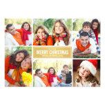 Gold der Foto-Collagen-Weihnachtskarten-| Zickzack Individuelle Ankündigung