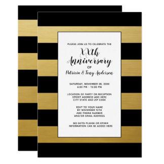 Gold der Hochzeits-Jahrestags-Party-modernes Karte