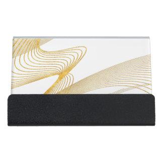 Gold elegant Ihr Gewohnheit-Schreibtisch Schreibtisch-Visitenkartenhalter