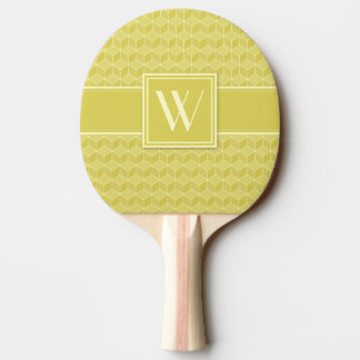 Gold farbige Kaskade der Würfel 3D Tischtennis Schläger