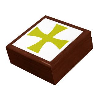 Gold farbiges byzantinisches Kreuz Geschenkbox