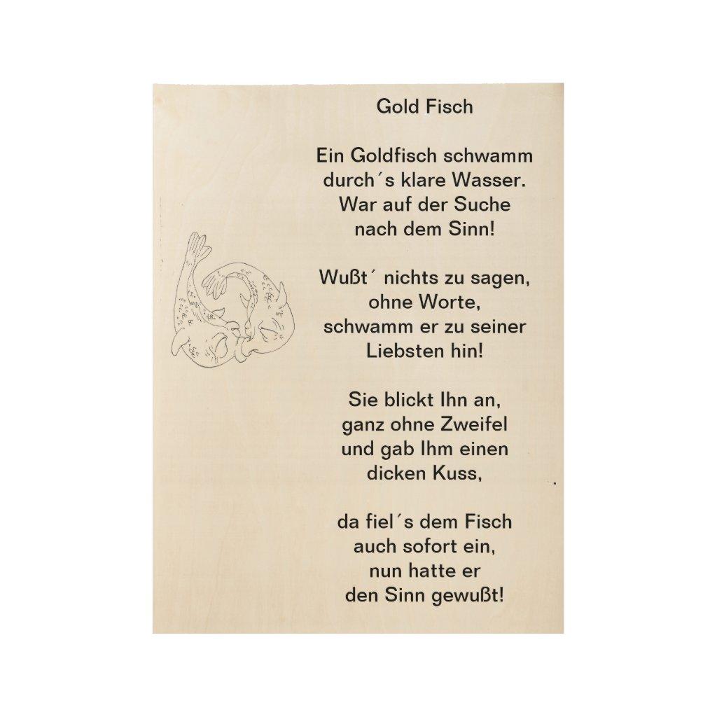 Gold Fisch Poster