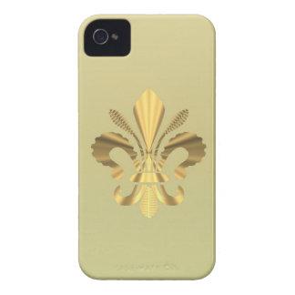 Gold Fleur de Lys iPhone 4 Hüllen