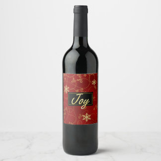 Gold-FREUDE Weihnachtswein-Aufkleber Weinetikett