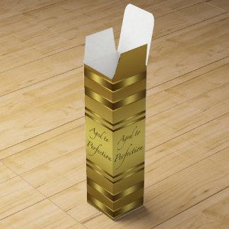Gold gealtert zur Perfektion Wein-Geschenkverpackung