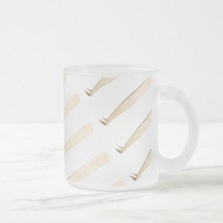 Gold gebogenes L Pinzette-Tasse Mattglastasse