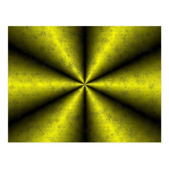 Gold - gelb - schwarz Regenbogen Postkarte