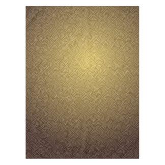 Gold gezeichneter interessanter Musterentwurf des Tischdecke