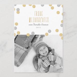 Gold Glitzern Foto Weihnachtskarte