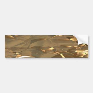 Gold, Gold, Gold! - Elegantes Goldmuster Autoaufkleber